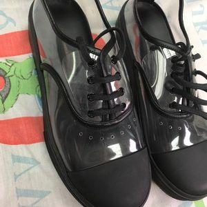 Celine Paris clear transparent sneakers sz 36